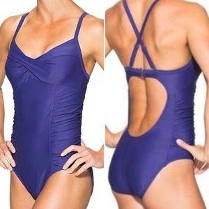 Athleta twister one piece underwire swimsuit 36B/C